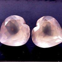 9mm Rose Quartz Faceted Heart Loose Gemstones