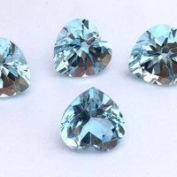 4mm Sky Blue Topaz Faceted Heart Loose Gemstones