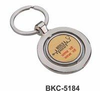 Round Rotate Golden Keychain