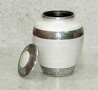 White Aluminum Cremation Urn