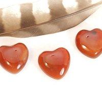 7mm Carnelian Heart Cabochon Loose Gemstones