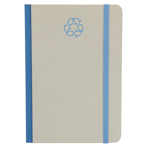 Comma Ecologique - A5 Size - Hard Bound Notebook (Grey with Blue)
