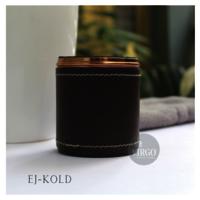 EJ-KOLD: Metal Jar With Lid, Color-Coffee Brown