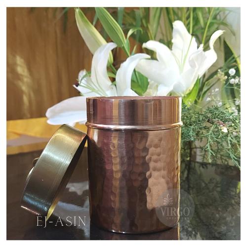 EJ-ASIN: Metal Jar With Lid