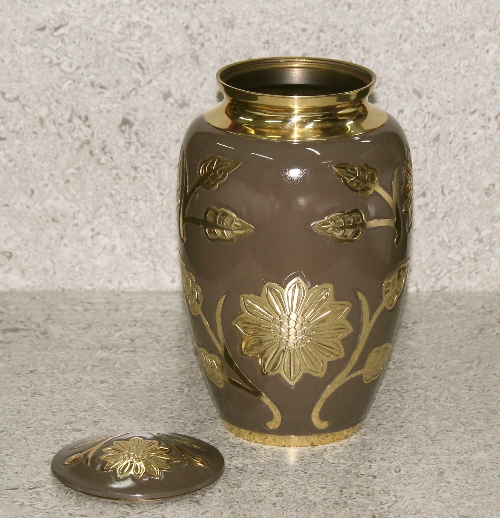 Classic Brown Enamel Urn