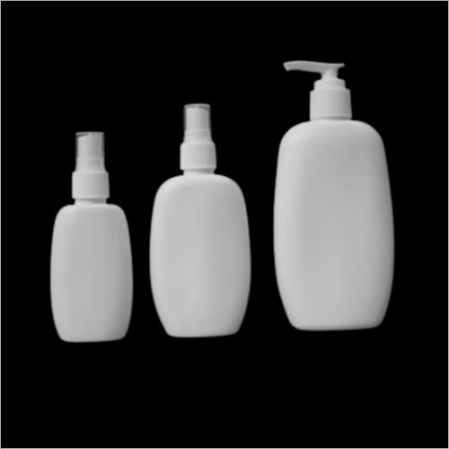 50ml - 100ml 200ml HDPE Oval Shape Bottle With Lotion Cream Pump