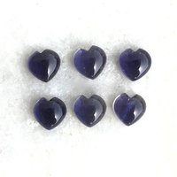8mm Iolite Heart Cabochon Loose Gemstones