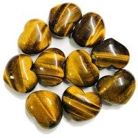 12mm Tiger Eye Heart Cabochon Loose Gemstones