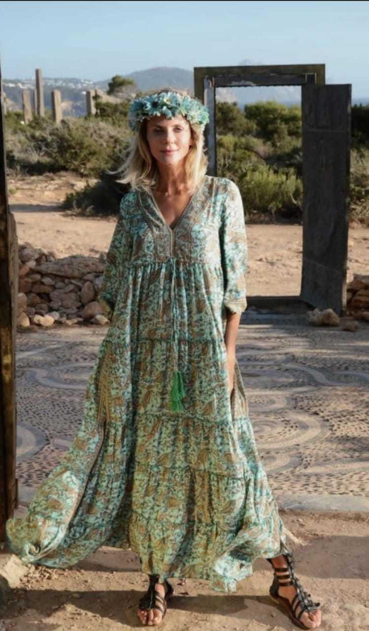 BLOSSOM CREPE DRESSES, CHIFFON PRINTED DRESS