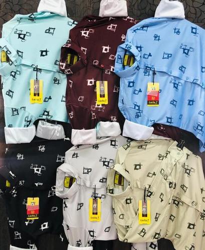 Mens Slim Fit Printed Shirts