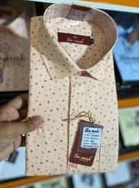 Mens Casual Dotted Printed Shirts