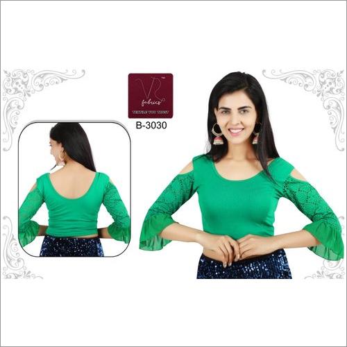 Ladies Cold Shoulder Saree Blouse