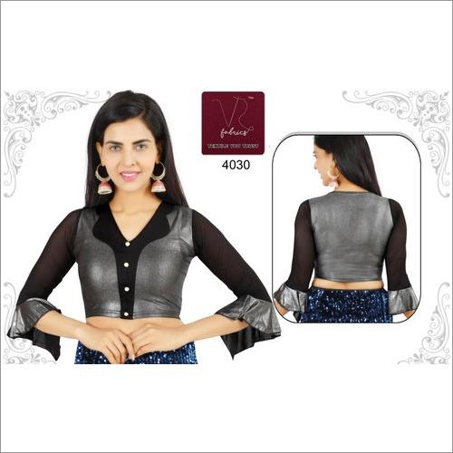 Ladies Short Bell Sleeves Saree Blouse