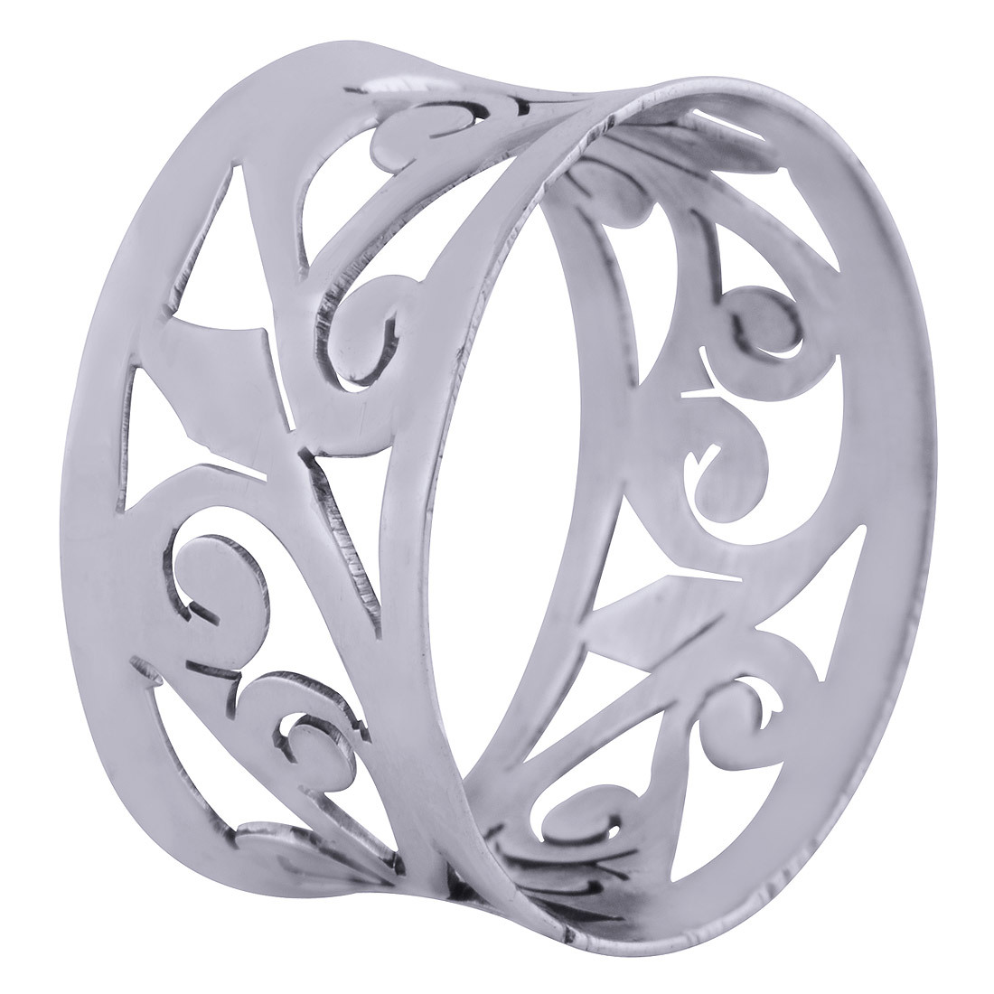 GORGEOUS JALI CUT OUT PLAIN 925 STERLING SOLID SILVER HANDMADE RING