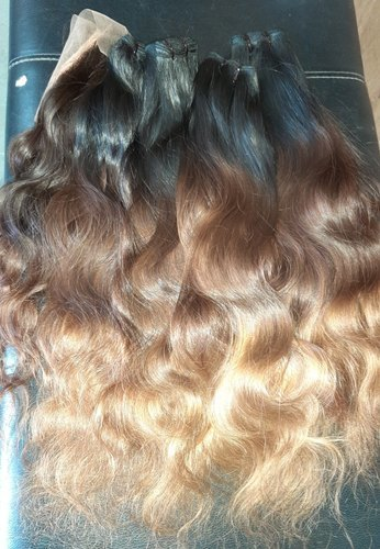 Gold & Black Color Hair