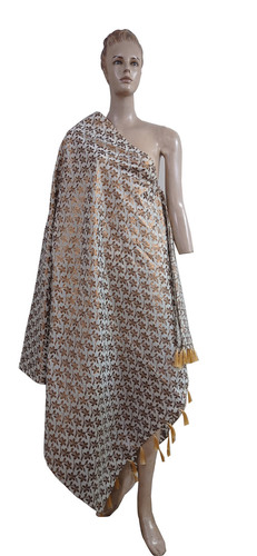 Embroidered Fringes Fancy  Printed Dupatta