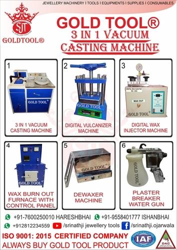 jewellery 3 in 1 vacuum pressure casting machine