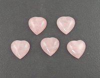7mm Rose Quartz Heart Cabochon Loose Gemstones