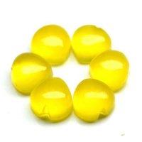 7mm yellow Chalcedony Heart Cabochon Loose Gemstones