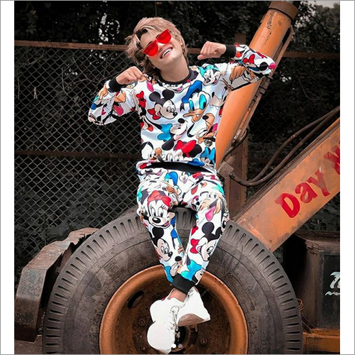Boy Mickey Mouse Printed Tracksuit