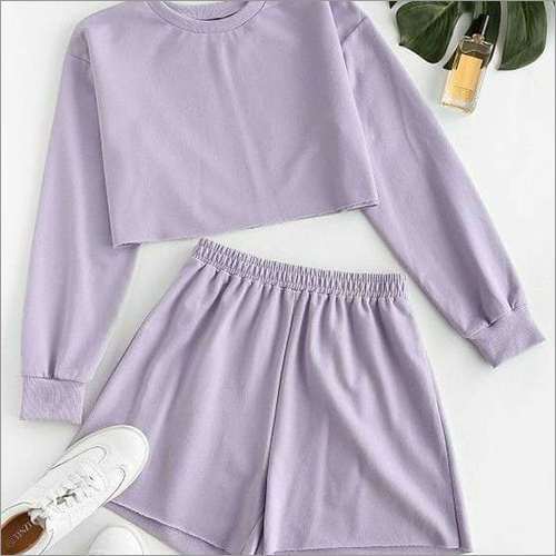 Ladies Fancy Crop And Shorts