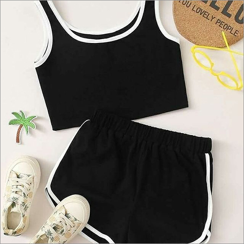 Ladies Cotton Crop And Shorts