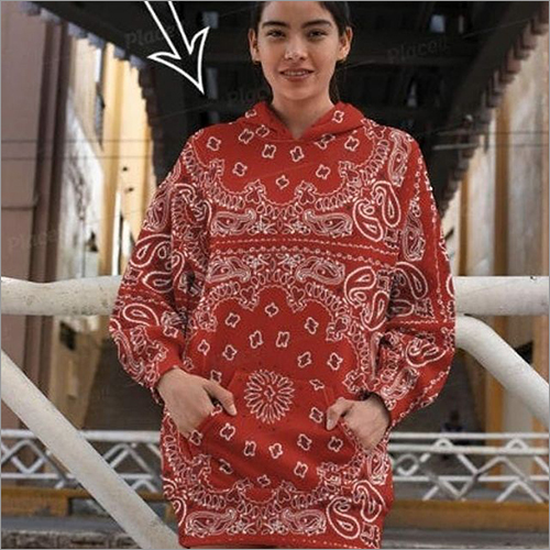 Ladies Mandala Print Hoodies