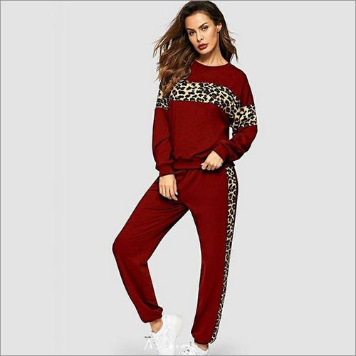 Ladies Cheetah Print Tracksuit