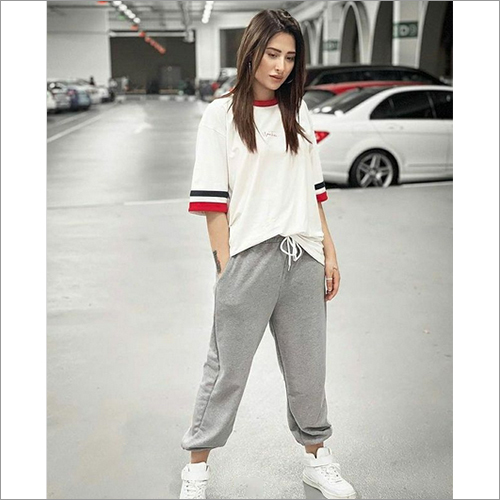 Ladies Loose Fit T-Shirt And Tracksuit