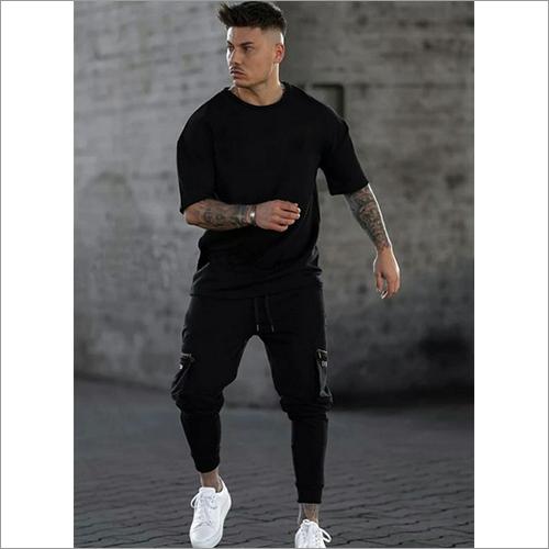 Mens Black Sweatpant And T-Shirt