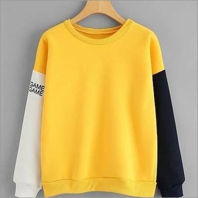Mens Full Sleeves Tricolour Sweatshirt