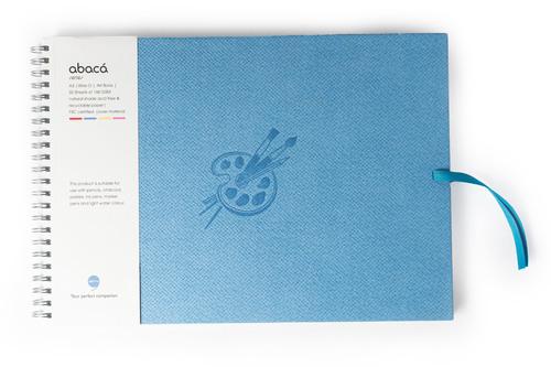 Comma Abaca - A3 Size - Wire-O-Bound Sketchbook (Sky Blue)