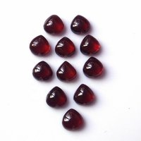 4mm Mozambique Garnet Heart Cabochon Loose Gemstones