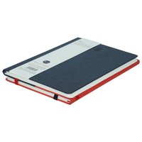 Comma Flip - A5 Size - Notebook And Sketchbook (Navy Blue + Red)