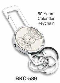 50 Years Calendar Metal Keychain
