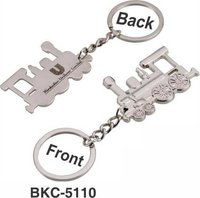 Metal Train Engine Keychain