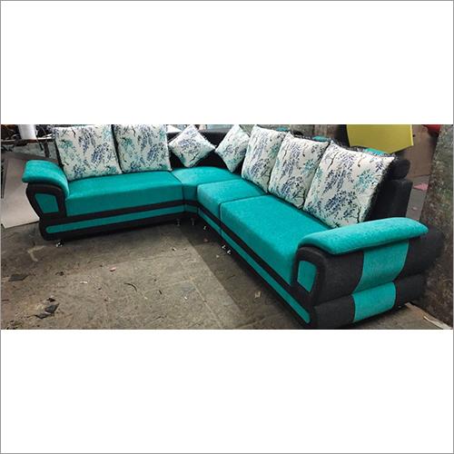Alida 6 Seater Fabric Sofa LHS in Aqua Blue