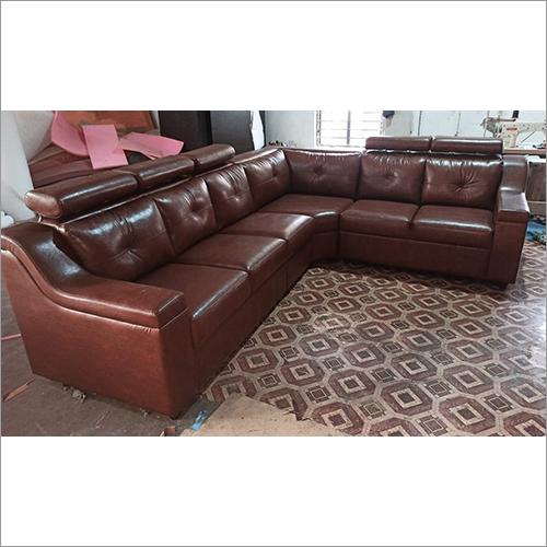 Brown Leather Decent Sofa Set