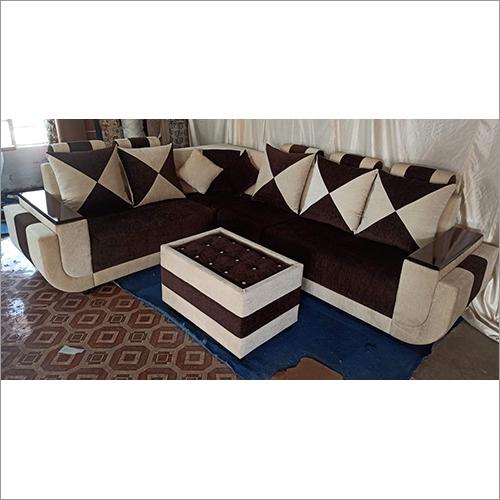 Brown White Combination Sofa