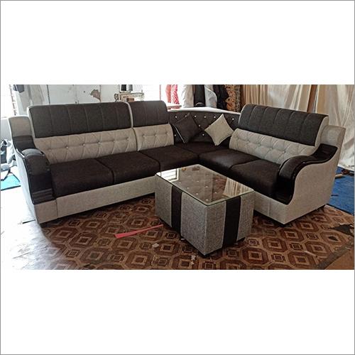Brown White Combination 6 Seater Sofa