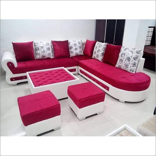 Pink White Lovely Sofa Set