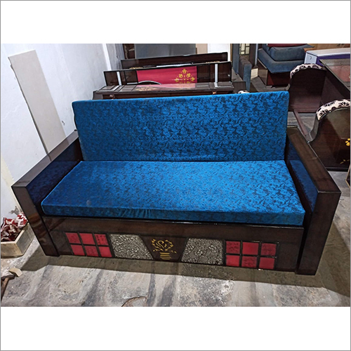 Sofa Cum Bed Blue Set