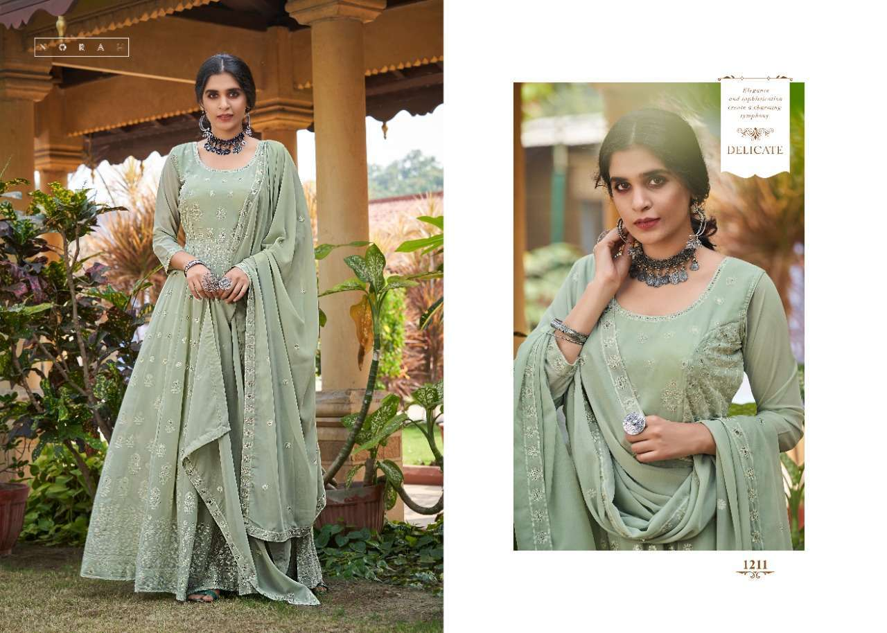 Tunic House Navyata Nx Georgette Embroidered Readymade Suit Catalog