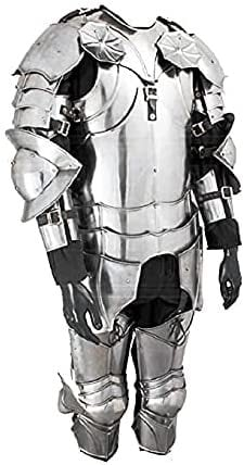 Larp Suit Of Armor- Gothic Wearable Suit Of Armor Silver