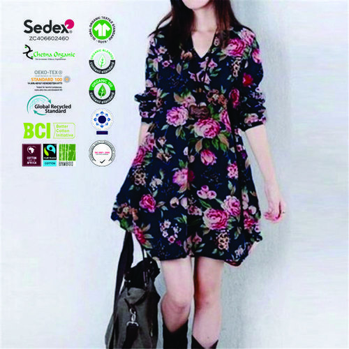 Sustainable Cotton Women's Clothing's Casual Dress