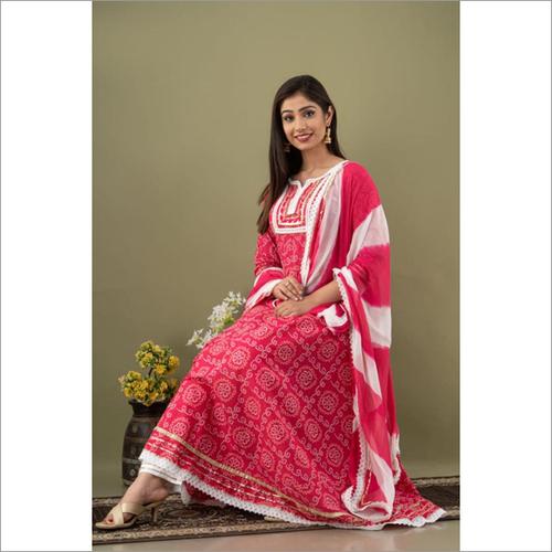 Premium Cotton Printed Anarkali Kurti