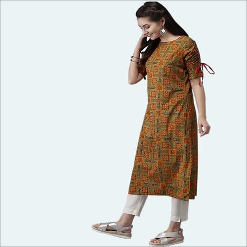 Fabric Rayon Kurti With Pant