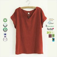 GRS Recycle Cotton Ladies Sleeve Tops