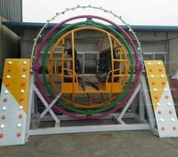 Multicolor FRP Human Gyroscope Ride, For Amusement Park