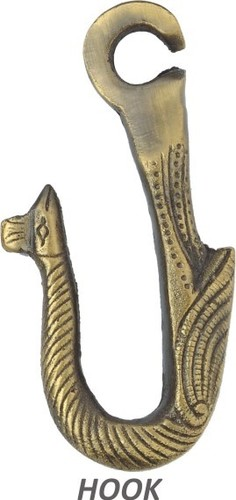 Brass Jhula Peacock Hook
